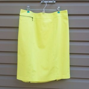 Mossimo Stretch Sz 16 Bright Yellow Skirt